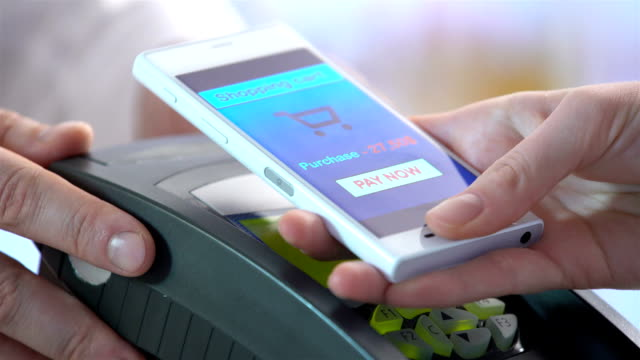 paying through smartphone using NFC technology video