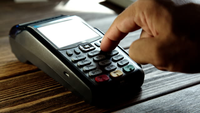 Payment with a credit card through terminal video