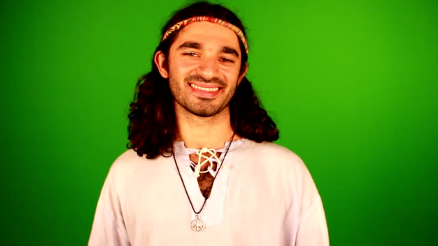 Peace brother Man making peace sign. Green screen to add you own background or composite. Out of time or ideas? Check out the same shot with custom background. FULL HD 30p. Similar shots in portfolio. hippie stock videos & royalty-free footage