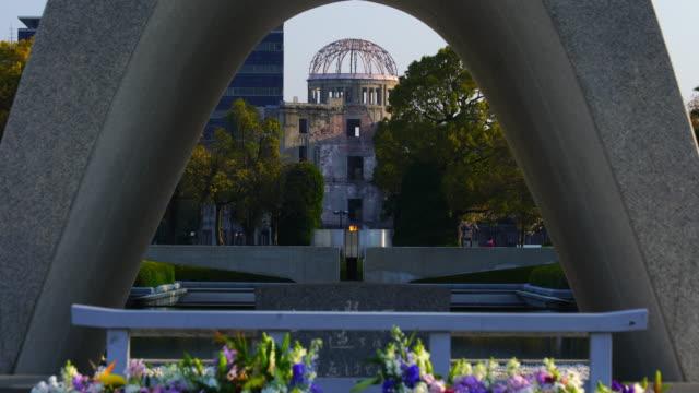 barış anıtı parkı: hiroshima, japan - hiroshima stok videoları ve detay görüntü çekimi