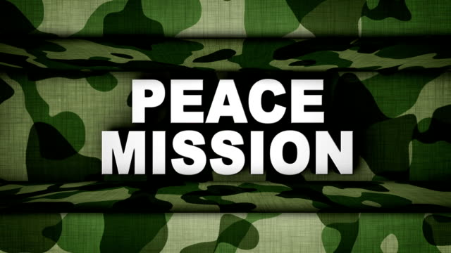 Peace Mission Text in Military Door, Loop video