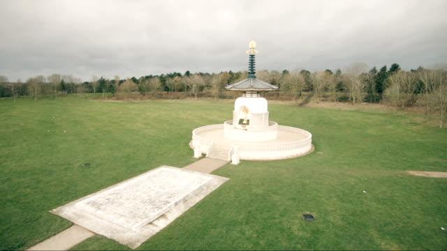 平和の塔 - 仏塔点の映像素材/bロール