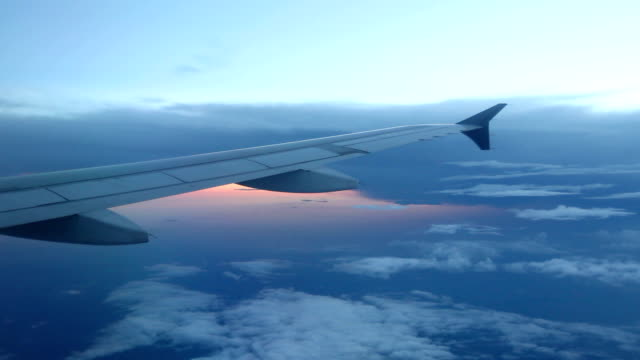 Peaceful View from Plane Window video