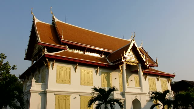 tranquilla vista in marmo, bangkok tempio - buddha video stock e b–roll