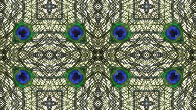 Peacock Kaleidoscope, loopable video