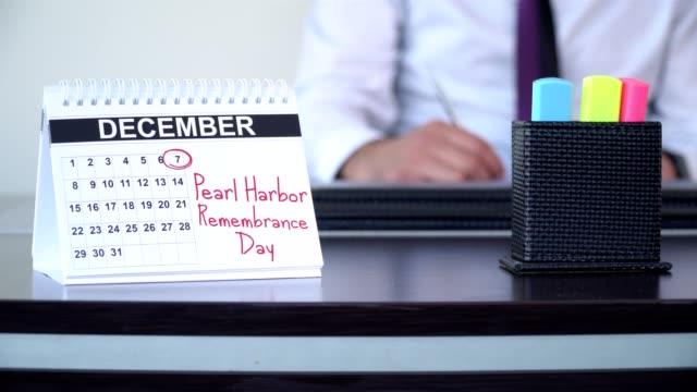 pearl harbor minnet - speciella dag - calendar workout bildbanksvideor och videomaterial från bakom kulisserna