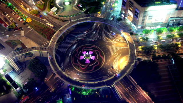 Pearl Ring Roundabout in Shanghai, China video