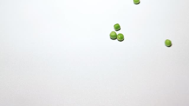 peas heart symbol white background hd footage
