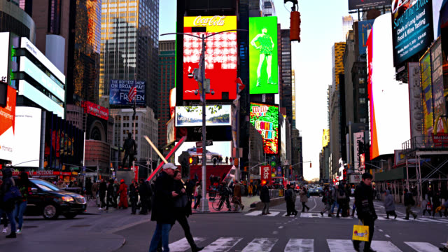 Fußgänger am Times Square – Video