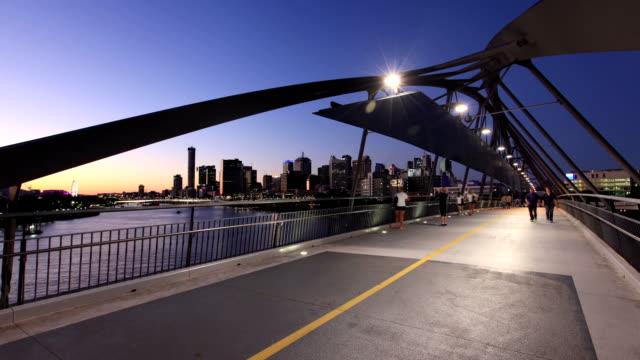 Pedestrian Bridge, Brisbane, Australia video