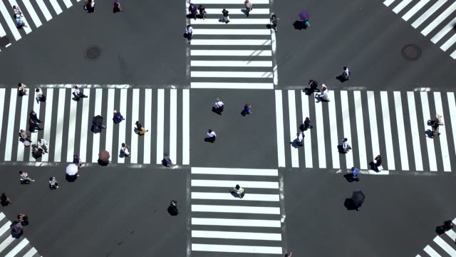 pedestrian crossing -4K- video