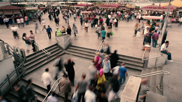 4K: Pedestrian crowded at Istanbul video