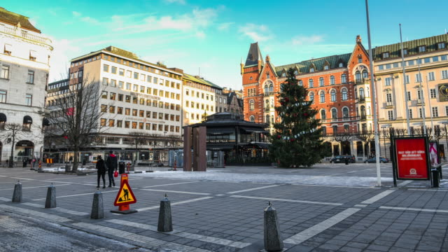 Pedestrian Crowded At Stockholm, Sweden video
