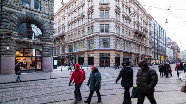 fotgängare gol på helsingfors, finland - finland bildbanksvideor och videomaterial från bakom kulisserna