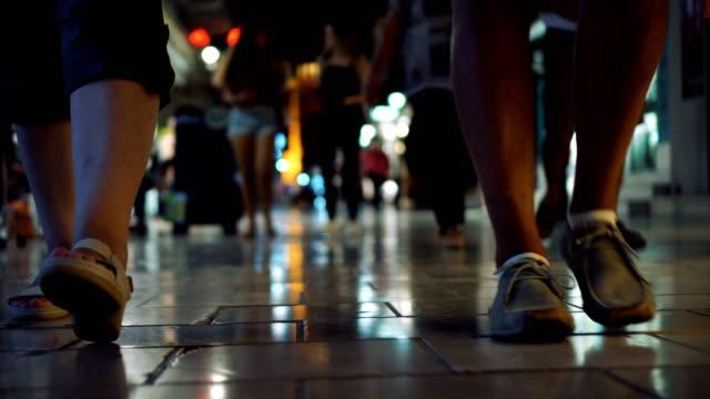 Pedestrian on marble street video