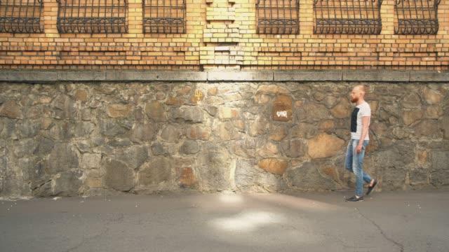 pedestrian walking in city video
