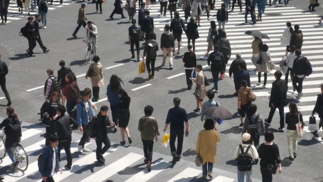 歩行者の群集、渋谷交差点 - 交差点点の映像素材/bロール