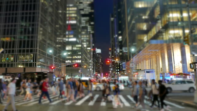 Pedestrians in Busy New York. Mayor City of the USA. Business People, Tourists and Others Walking in the Streets of New York. free stock without watermark stock videos & royalty-free footage
