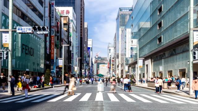 東京都の歩行者歩行と銀座で買い物。 - 多重露出点の映像素材/bロール