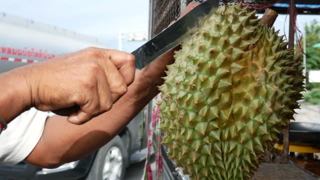 Peel durian fruit video