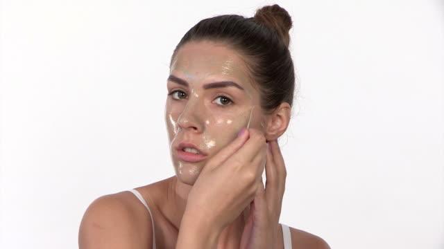 Peel off mask video