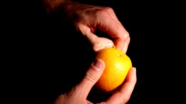 Peeling an Orange video