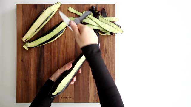 peeling eggplants video