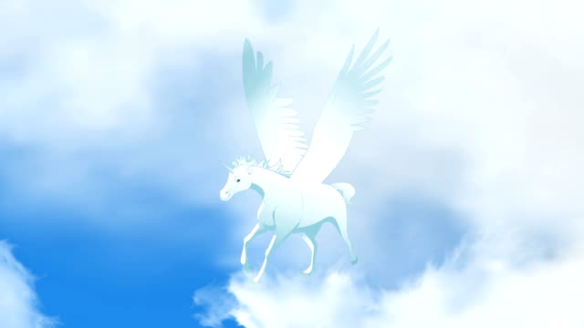Pegasus Flying animation Run cycle video