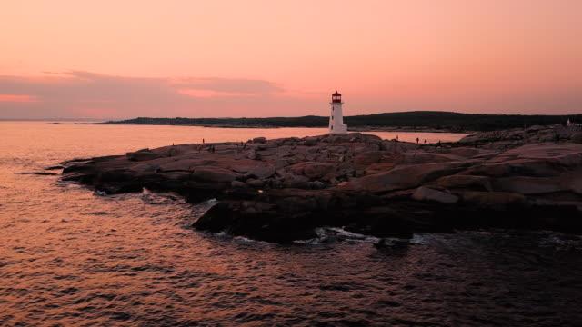 ペギーズ コーブ灯台 - 大西洋点の映像素材/bロール