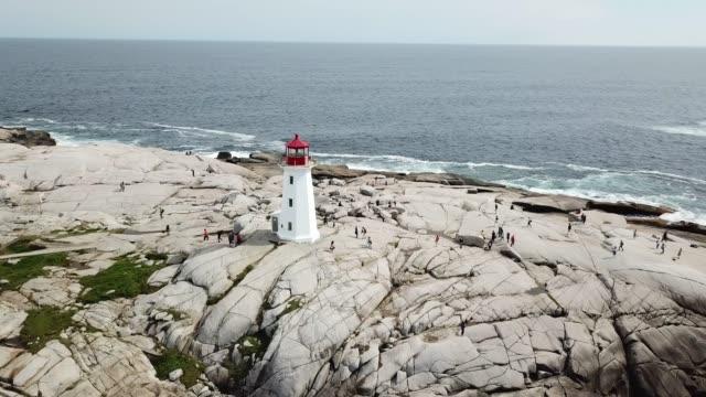 peggy's cove nova scotia - oceano atlantico video stock e b–roll