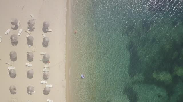 peloponnese beach aerial view in greece - пелопоннес стоковые видео и кадры b-roll