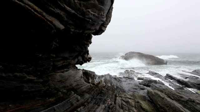 Pemaquid Point coastal rock formations video