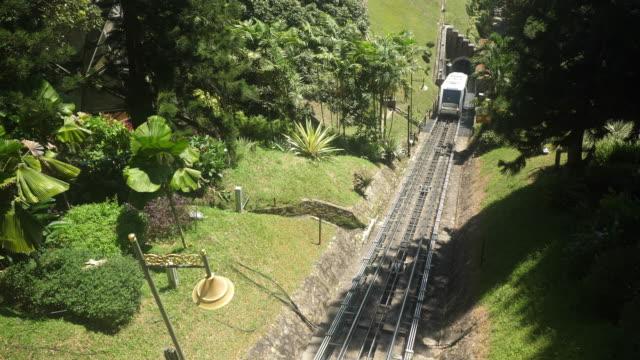 ferrovia di penang hill - tranvia video stock e b–roll