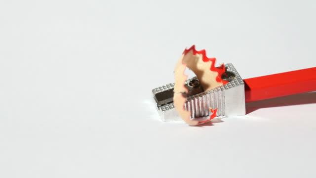 pencil and sharpener - blyertspenna bildbanksvideor och videomaterial från bakom kulisserna