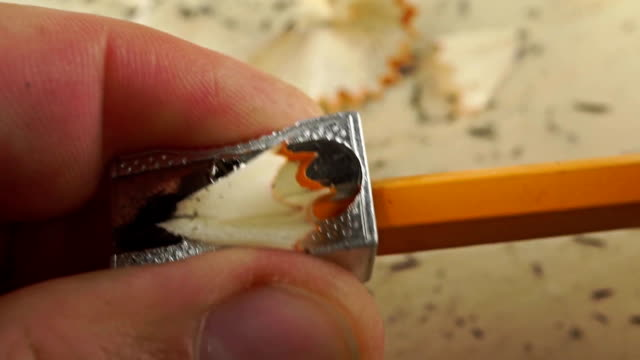 Pencil sharpener in action video