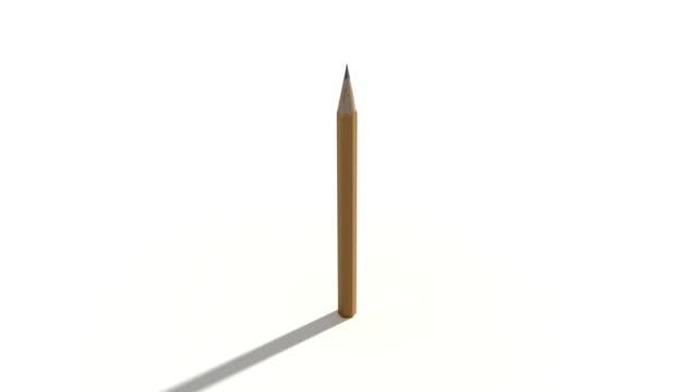 blyerts tid förfaller spin med luma matt - blyertspenna bildbanksvideor och videomaterial från bakom kulisserna