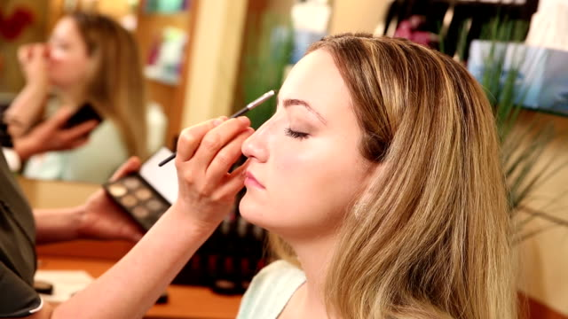 Penciling Eyebrows and Focus on Mirror Reflection video