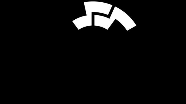 Pending loading screen pack, loopable parts - white on black - loop video