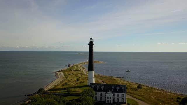 Peninsula Lighthouse in Saaremaa Sõrve estonia stock videos & royalty-free footage
