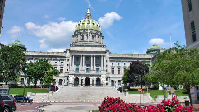 Pennsylvania State Capitol Building Exterior Pennsylvania State Capitol Building Exterior supreme court stock videos & royalty-free footage