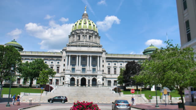 Pennsylvania State Capitol Building View Pennsylvania State Capitol Building View supreme court stock videos & royalty-free footage