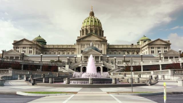 pennsylvania state capitol complex harrisburg - pennsylvania stock-videos und b-roll-filmmaterial