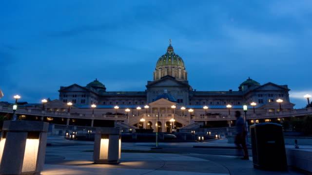 pennsylvania state capitol building - pennsylvania stock-videos und b-roll-filmmaterial