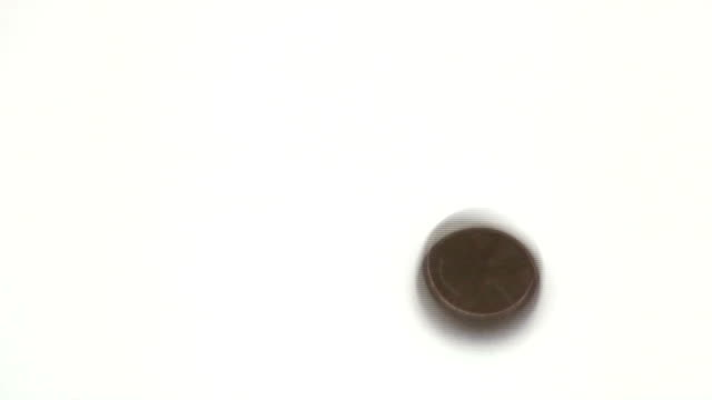 Penny spin - HD video