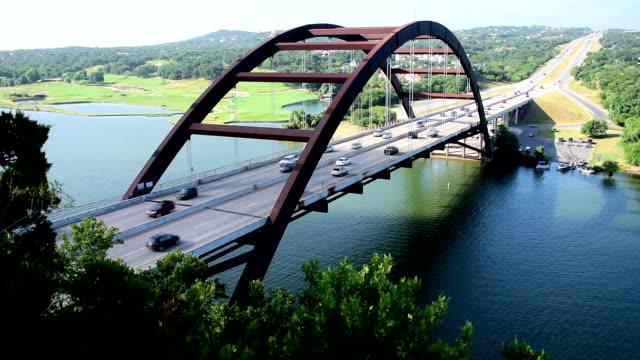 Pennybacker Bridge or 360 Bridge Lights and darks Capital of Texas Highway Shot