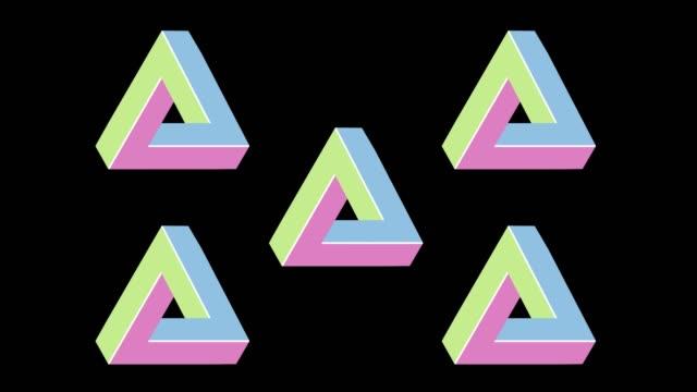 penrose triangle - трюк стоковые видео и кадры b-roll