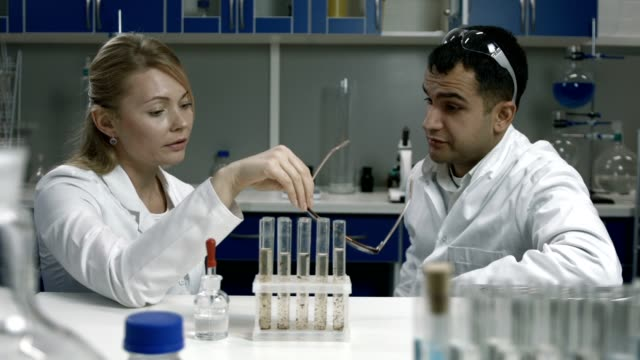 Pensive scientists thinking over bad results video