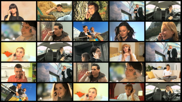 HD MONTAGE: People And Mobile Phones video