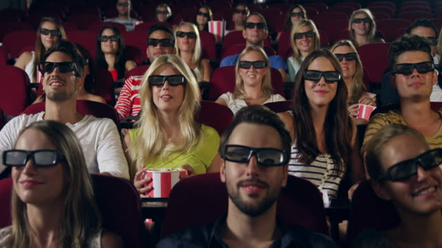 People applause in Cinema video