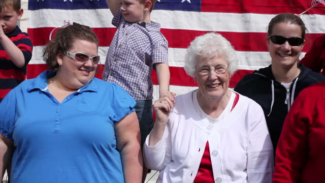People at 4th of July celebration  family 4th of july stock videos & royalty-free footage